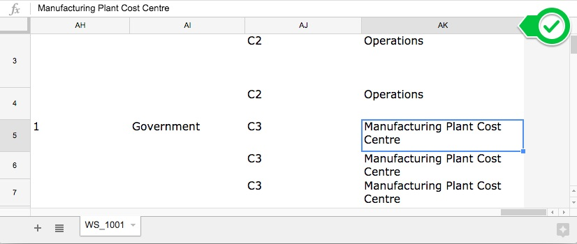 the best report is the closed work order excel dump report in the image below we are filtering by charge department so we can see all work orders and